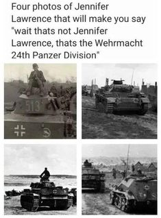"""Four photos of Jennifer Lawrence that Will make you say """"wan thats not Jennifer Lawrence, thats the Wehrmacht Panzer DIVISIon' - iFunny :) Modern Warfare, Funny Images, Funny Photos, Really Funny, Really Cool Stuff, Fun Stuff, Random Stuff, Stupid Funny Memes, Hilarious"""