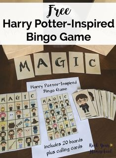 Free Printable Pack Of Harry Potter Inspired Bingo Game That Your Kids Will Love