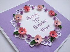 Happy Birthday Quilled Card Customise with any age or by Joscinta, £6.00