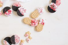 DIY Valentine's gifts kids can make: Valentine's dipped semi-homemade cookies from Brit + Co
