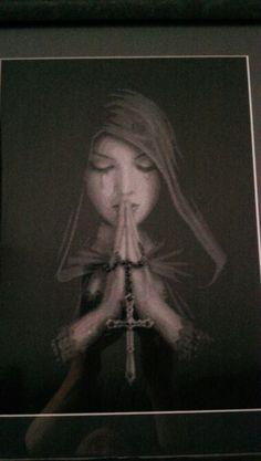 Cross stitch gothic angel