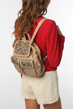 Studded Backpack #urbanoutfitters #studs