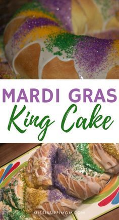How to Make a Mardi Gras King Cake - Celebrate Mardi Gras in style with your very own homemade King Cake!