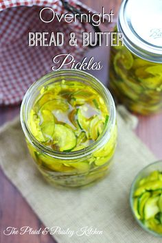 So easy to make! Overnight Bread & Butter Pickles are sooo good. ~ The Plaid & Paisley Kitchen