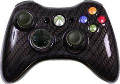 Amazon.com: Black Gold Carbon Fiber Custom Xbox 360 Controller: Video Games #xbox360controller #custom xbox360controller #modded xbox360controller #customcontroller #moddedcontroller