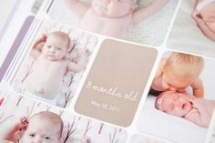 photo book from the digital project life templates: baby edition