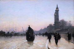 Alfred Smith (1854-1916), Les Quais de Bordeaux - 1892