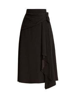 Drape-front crepe skirt | Prada | MATCHESFASHION.COM
