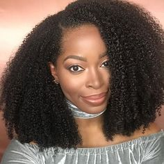 coily natural hair U part wig moisture friendly hairstyle