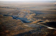 Aerial photo of Sand Creek Massacre Site, Kiowa County, Colorado, CO United States