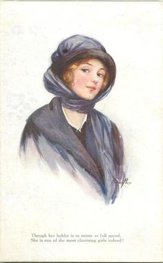 Postcard illustrated by Marjorie Mostyn from 'A Dream of Fair Women, Series IV' set, ca. 1910s