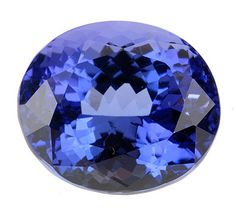 Genuine Tanzanite Loose Gemstone, Blue Purple Color, Oval Cut, 10.4 x 9.0 mm, 5.14 Carats at BitCoin Gems