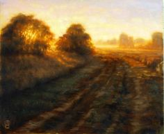 Refuge, a bird sanctuary near my home at sunrise.  16x20 oils on canvas.