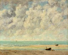 The Calm Sea, 1869  Gustave Courbet (French, 1819–1877)  Oil on canvas    23 1/2 x 28 3/4 in. (59.7 x 73 cm)