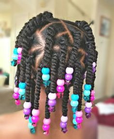Twists and Beads Styles for little black girls! Chica Styles in little black girls braided hair styles - Hair Style Girl Toddler Braided Hairstyles, Toddler Braids, Black Kids Hairstyles, Natural Hairstyles For Kids, Braids For Kids, Little Girl Twist Hairstyles Black, Kids Braids With Beads, Kid Hairstyles, Simple Girls Hairstyles
