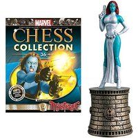 Marvel X-Men Mystique Black Bishop Chess Piece with Magazine