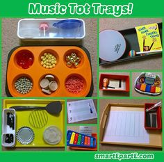 Even young ones can learn about music with the help of our 11 Music Tot Trays! We use existing toys and instruments to learn from, and even make our own! Preschool Music, Music Activities, Preschool Themes, Preschool Lessons, Teaching Music, Preschool Learning, Preschool Activities, Indoor Activities, Music Games