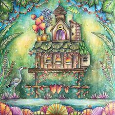 Amei!!!!! :-):-)♥♥♥ @Regrann from @colorsbykat -  #magicaljungle  #Inktense #coloredpencils #posca #johannabasford #magicaljungle #selvamagica #artecomoterapia #coloring #coloriage #magicaljunglecoloringbook #adultcoloringbook #derwent #大人の塗り絵 #Regrann