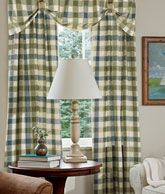 calico curtains has alot of cool stuff Woven Plaid Lined Rod Pocket Panel