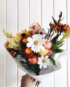 A bouquet of beautiful blooms. Fresh flowers to make your day. My Flower, Wild Flowers, Beautiful Flowers, Flowers Nature, Autumn Flowers, Fresh Flowers, Colorful Flowers, Simply Beautiful, Arte Floral