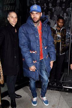 Chris Brown wearing H