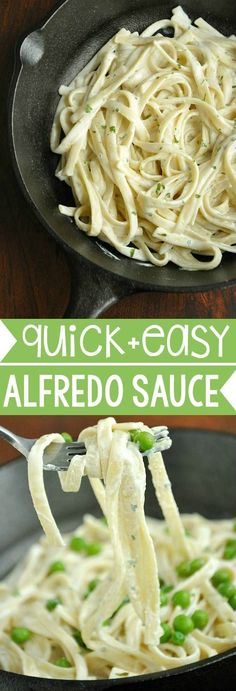 Skip the jar and whip up this delicious homemade alfredo sauce in under 10 minutes!