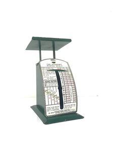Vintage Green USA IDL Economy Postal Scale 1930's Tiny Scale Perfect Succulent Plant Stand - Mod Retro - Book Stand by VintageLostButFound on Etsy
