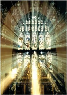 Bangor cathedral sunlight through a stained glass window Cathedral Windows, Church Windows, Cathedral Church, Canterbury Cathedral, Beautiful World, Beautiful Places, Foto Transfer, Old Churches, Chapelle