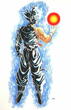 Goku just when he mastered Ultra Instinct