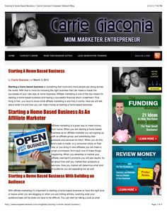 starting-a-home-based-business-carrie-giaconias-empower-network-blog by Carrie  Giaconia via Slideshare Busy At Work, Document Sharing, Home Based Business, Carrie, Fails, Blog, Make Mistakes, Blogging