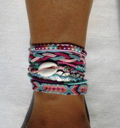 bracelet manchette de l'amitié fermoir aimanté : Bracelet par kiline