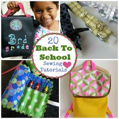 Gwt your needle and thread on your supply list! Back to School Basics: 20 Easy School Supply Sewing Tutorials