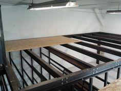 Garage Design, Loft Design, House Design, Steel Frame House, Steel House, Loft House, House Roof, Mezzanine Bedroom, Mezzanine Floor