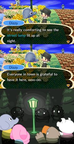 Oh street lamp, oh street lamp, how wonderful your lit light ♪ ~ || XD #animalcrossing #newleaf