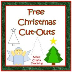 Free Christmas Tree and Angel Cut-out Templates