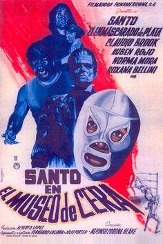 Lucha Libre - Cartel de Cine - Santo en el museo de cera