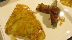 馬鈴薯ガレット 豚巻きアスパラガス