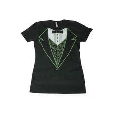 Womens Black Irish Tuxedo Costume T-Shirt  #Black #Costume #Irish #Tshirt #Tuxedo #Women's TshirtPix.com