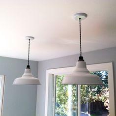 Ivanhoe™ Union Porcelain-Steel Shade Pendant | Barn Light Electric $153