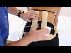 Joint Pain Remedies How to treat Lower back pain - Kinesiology Taping - Roller Derby, K Tape, Kinesiology Taping, Back Pain Exercises, Lower Back Pain Remedies, Natural Headache Remedies, Arthritis Treatment, Arthritis Remedies, Health Remedies