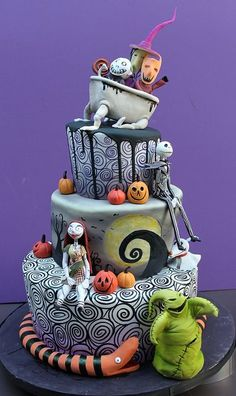 ☾☾ Halloween Ѽ All Hallows ☾☾ Nightmare Before Christmas Halloween Cake
