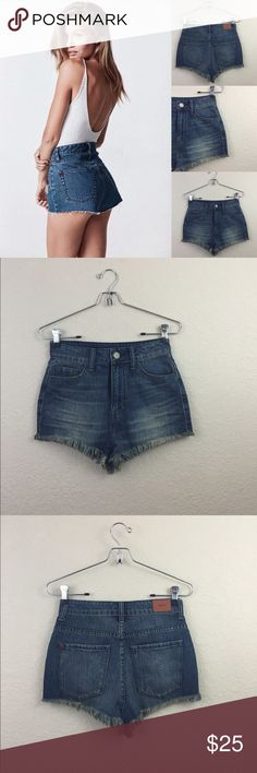 Urban outfitters BDG cheeky shorts Urban outfitters BDG super high rise cheeky shorts no damages excellent condition size 24 Urban Outfitters Shorts Jean Shorts