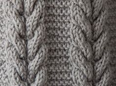 Knitted Cable Stitch. Abbreviations: 3/3 RC = (3 over 3 right cross) 3 sts to cable needle and hold to the back of work, k3 then k3 from the cable needle. 3/3 LC = (3 over 3 left cross) 3 sts to cable needle and hold to the front of work, k3 then k3 from the cable needle. Cable Panel: 13 stitch panel Row 1 (RS): k6, p1, k6 Rows 2 and all even rows: p6, k1, p6 Row 3: 3/3 RC, p1, 3/3 LC Row 5: Repeat Row 1 Row 6: Repeat Row 2 6 rows makeup up the…