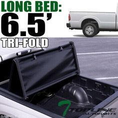 Topline For 1999-2016 Ford F250//F350 6.5 Ft Bed LW Hard Tri Fold Tonneau Cover