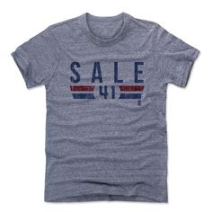 Chris Sale Font B Boston Officially Licensed MLBPA Unisex T-Shirt S-2XL