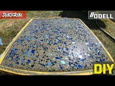 How to Make GLASS CONCRETE Stepping Stone Pavers - YouTube Stepping Stone Pavers, Cement Pavers, Diy Cement Planters, Cement Art, Concrete Steps, Painting Concrete, Concrete Projects, Concrete Blocks, Diy Concrete
