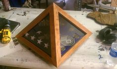 Custom flag shadow boxes for our deserving military members!