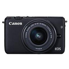 (440 €) Canon EOS M10 - Cámara compacta con objetivo EF 15-45 mm (f/3,5-6,3 IS STM, CMOS de 22,3 x 14,9 mm, DIGIC 6, AF CMOS Híbrido, 1-18 EV, a 23 °C, 100 ISO) negro