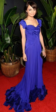 Who made Nicole Richie's blue long dress that she wore to the Montblanc charity cocktail in West Hollywood, March 6, 2010? Dress designer – Zac Posen