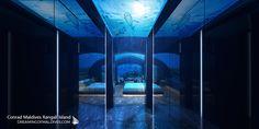 Sleep alongside the wonders of the endless ocean at The Muraka Underwater Bedroom